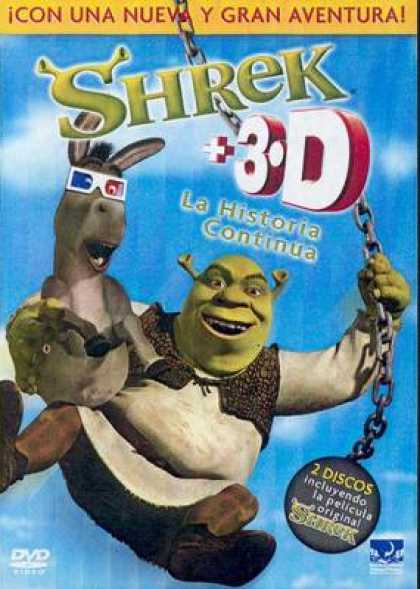 Spanish DVDs - Shrek 3-D
