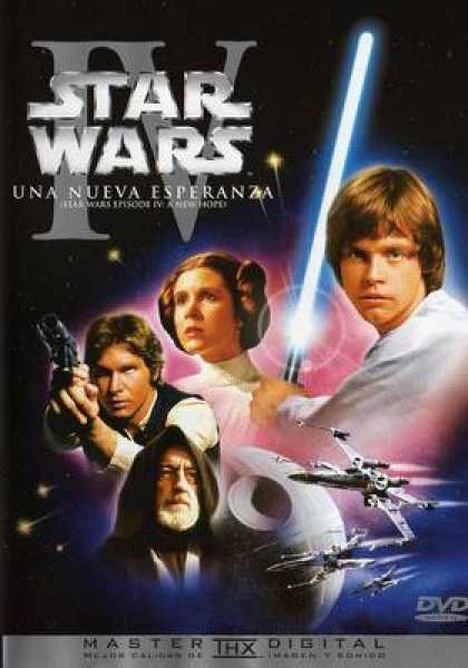 Spanish DVDs - Star Wars Trilogy 4 A New Hope