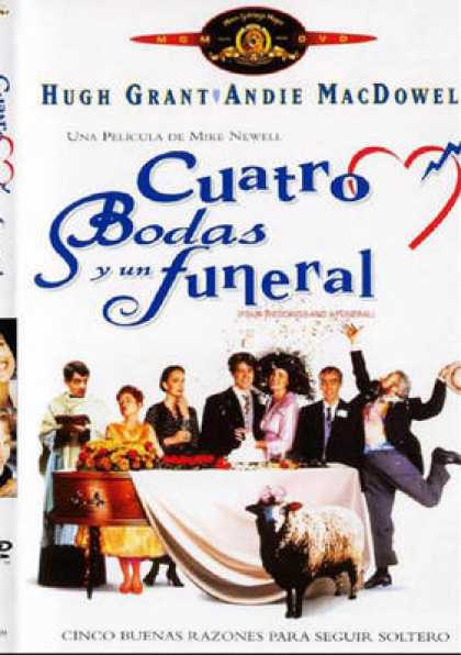 Spanish DVDs - Four Weddings And A Funeral