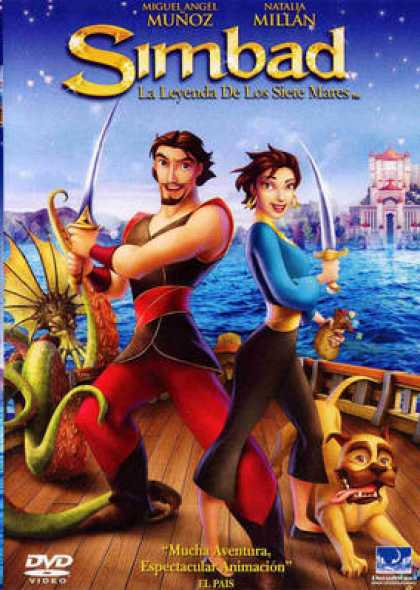 Spanish DVDs - Simbad Legend Of The Seven Seas