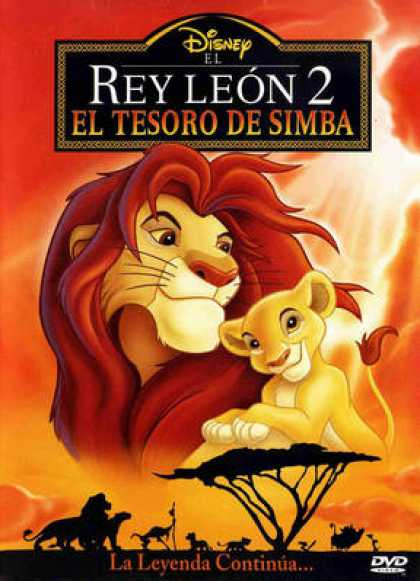Spanish DVDs - The Lion King 2