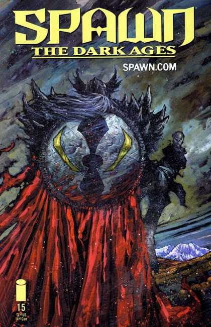 Spawn: The Dark Ages 15 - Swim - Water - Darkness - Sheild - Stand - Simon Davis