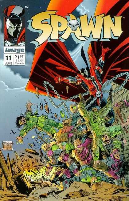 Spawn 11 - Image - Chains - Skull - Cape - Clouds - Todd McFarlane