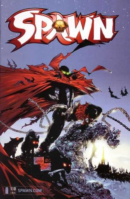 Spawn 110 - Dawn - Caped Crusader - Dogs - Chains - Gold Skull - Greg Capullo, Todd McFarlane