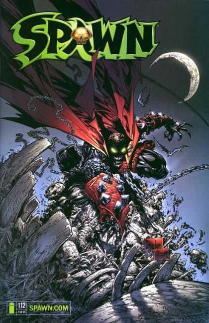 Spawn 112 - Moon - Green Eyes - Crush - Chain - Skull - Greg Capullo, Todd McFarlane