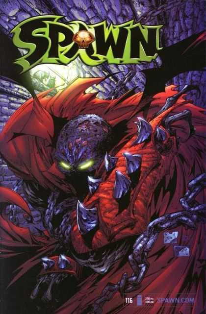 Spawn 116 - Glowing Eyes - Monster - Wings - Scales - Spikes - Greg Capullo, Todd McFarlane