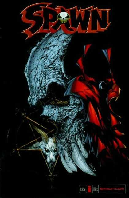 Spawn 125 - Dark - Skull - Magic Symbol - Evil - Red Cape - Greg Capullo