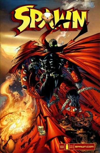 Spawn 133 - Spawn - Red Cape - Green Eyes - Fire - Smoke - Greg Capullo
