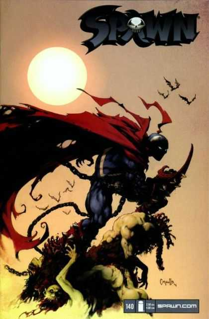 Spawn 140 - Sun - Skeleton - Sky - Birds - Ghost - Greg Capullo