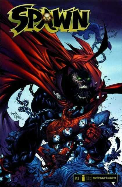 Spawn 142 - Monster - Battle - Red Robe - Green Eyes - Evil - Greg Capullo