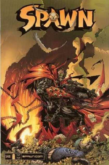 Spawn 148 - Gun - Chains - Flames - Smoke - Bird - Greg Capullo