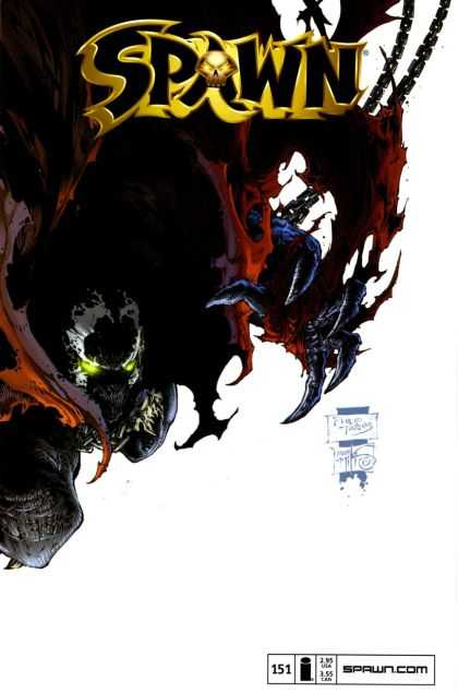 Spawn 151 - Upside Down - Glowing Eyes - Chains - Decay - Gold Skull - Philip Tan
