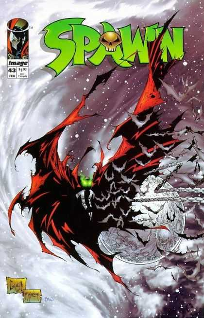 Spawn 43 - Bats - Chains - Cape - Glowing Eyes - Moon - Greg Capullo, Todd McFarlane
