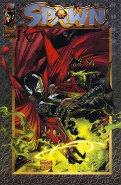Spawn 50 - Skull - Mask - Monster - Green Colour - Red Colour - Todd McFarlane