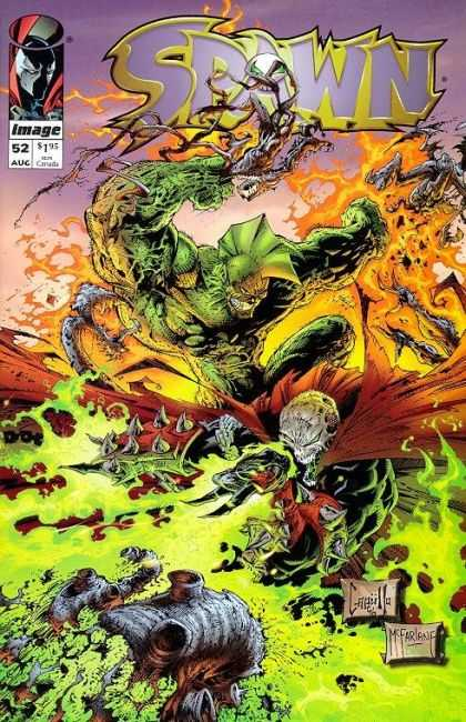 Spawn 52 - Toxic - Green Monster - Red Cloak - Fire - Rubbish - Greg Capullo, Todd McFarlane