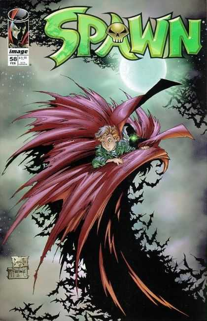 Spawn 58 - Pinkwings - Creature On Rise - Green Bee - Thumbgreen - Song Of The Dark - Greg Capullo, Todd McFarlane