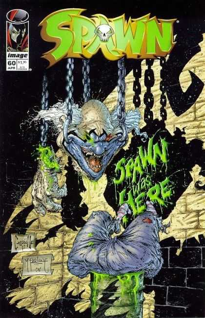 Spawn 60 - Clown Head - Hanging Meat Hooks - Darkness - Carcass - Cut Up - Greg Capullo, Todd McFarlane