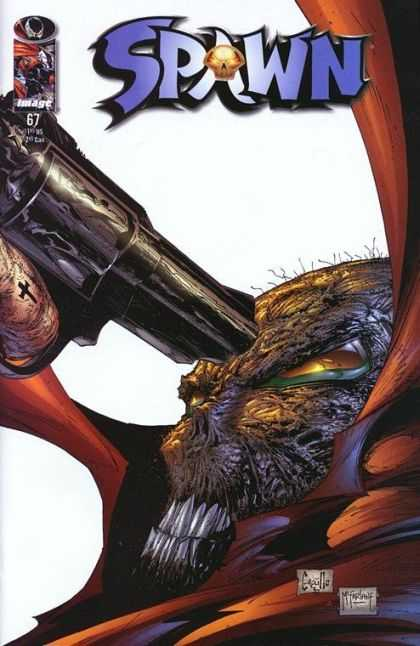 Spawn 67 - Gun - Skull - Teeth - Eyes - Cross - Greg Capullo, Todd McFarlane