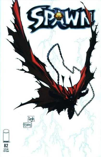 Spawn 82 - Black Devil - Chain Weapon - Skull - Red Cape - Evil Eyes - Greg Capullo, Todd McFarlane