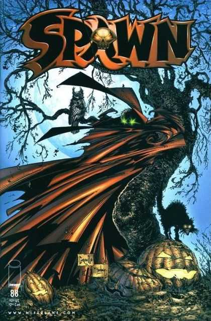 Spawn 88 - Black Cat - Owl - Spooky Tree - Jack-o-lantern - Halloween - Greg Capullo, Todd McFarlane
