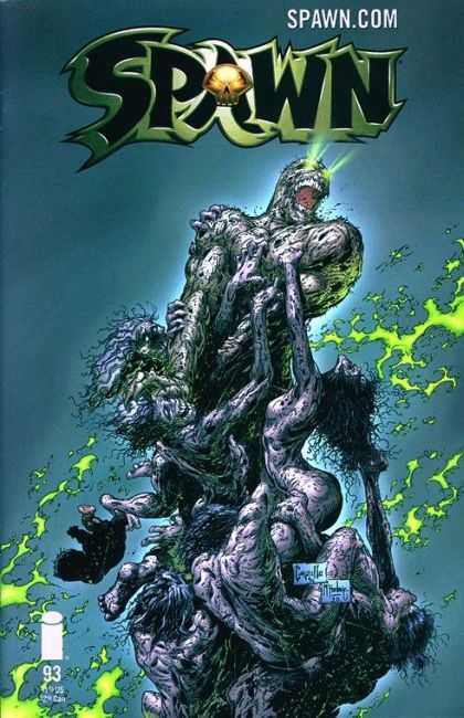 Spawn 93 - Zombies - Green Lightening - Spawncom - Glowing Eyes - Undead Mob - Greg Capullo, Todd McFarlane