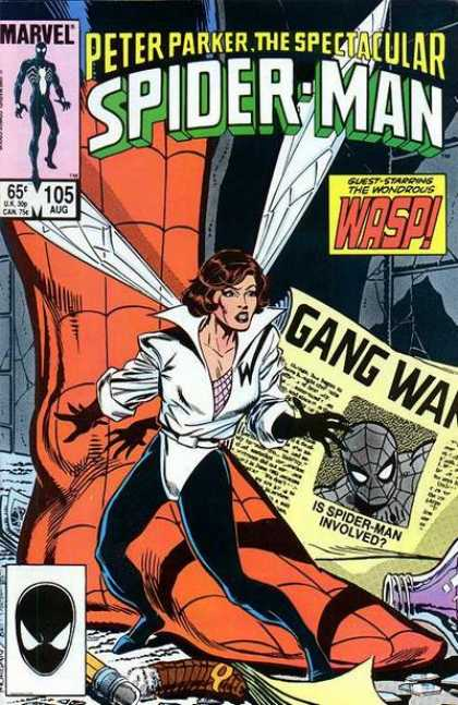 Spectacular Spider-Man (1976) 105 - Guest-starring The Wondrous Wasp - Gang War - Newspaper - Is Spider-man Involved - Pencil