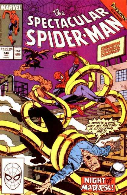 Spectacular Spider-Man (1976) 146 - Spiderman - Goblin - Tha Amazing Spiderman - Night Of Madness - Spiderman Vs Goblin - Sal Buscema