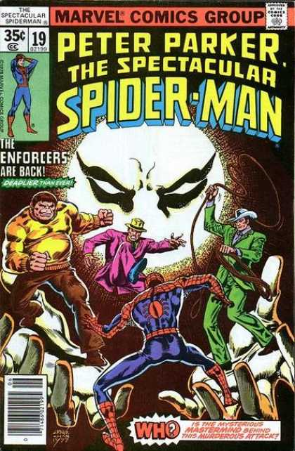 Spectacular Spider-Man (1976) 19 - The Enforcers Are Back - Who - Ambush - Lasso - Thug - Ernie Chan