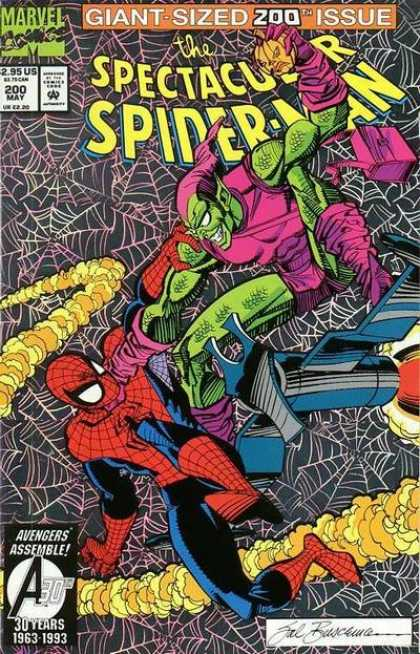 Spectacular Spider-Man (1976) 200 - Marvel Comics - Giant-sized 200 Th Issue - Web - Goblin - Avengers Assemble - Sal Buscema