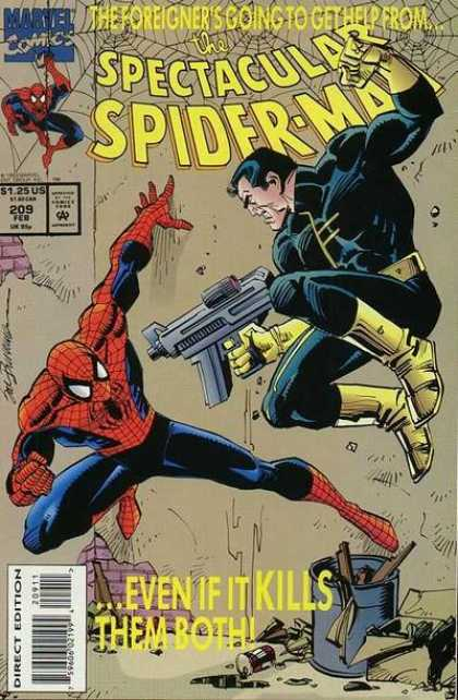 Spectacular Spider-Man (1976) 209 - Gun - Approved By The Comics Code Authority - 125 Us - Direct Edition - Marvel Comics - Sal Buscema