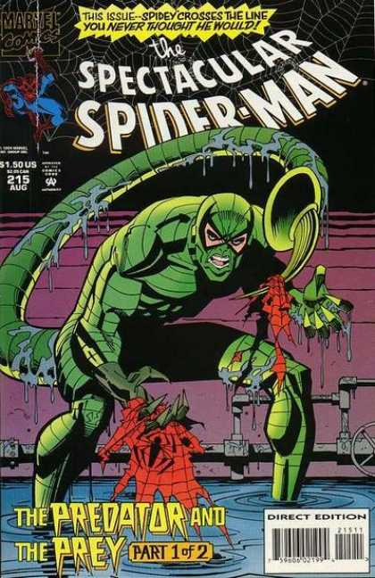 Spectacular Spider-Man (1976) 215 - The Predator - The Prey - 215 Aug - Direct Edition - 150 Us
