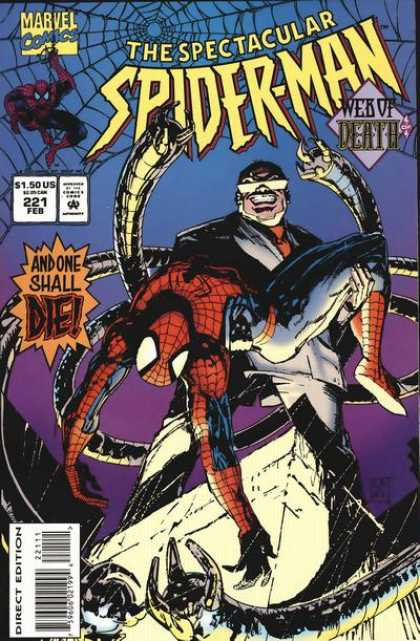 Spectacular Spider-Man (1976) 221 - Web Of Death - Doctor Octopus - 221 - Direct Edition - Feb