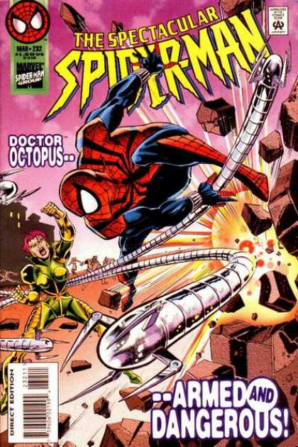 Spectacular Spider-Man (1976) 232 - Bricks - Pink Hair - Octopus - 232 - Dangerous - Jimmy Palmiotti, Sal Buscema