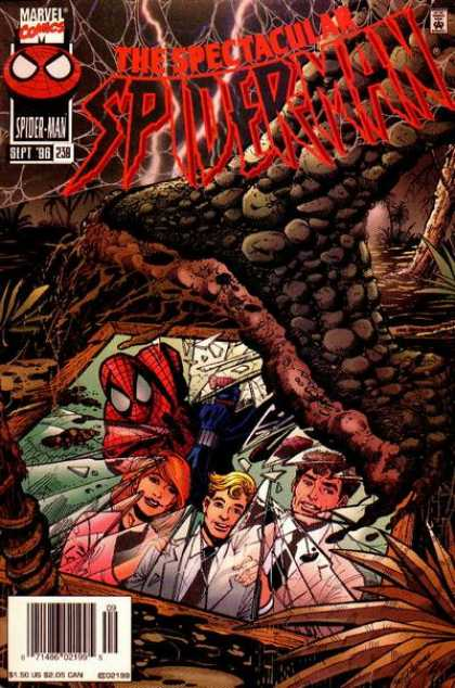 Spectacular Spider-Man (1976) 238 - Broken Glass - Swamp - Jungle - Scientists - Monster - Sal Buscema