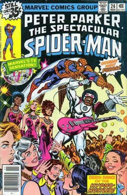 Spectacular Spider-Man (1976) 24 - Hypno Hustler - Marvel Comics - Peter Parker - Spider Man - Stan Lee