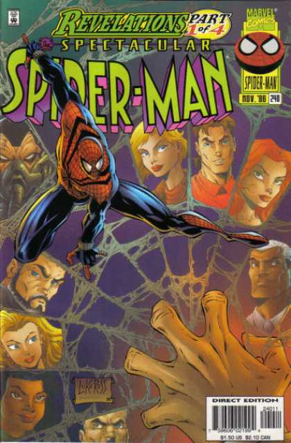 Spectacular Spider-Man (1976) 240 - Revelelations - Spectacular - Spider-man - Web - Faces
