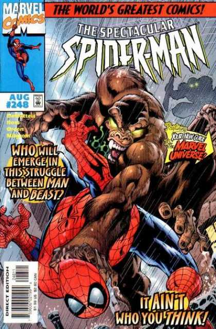 Spectacular Spider-Man (1976) 248 - Marvel - August - Worlds Greatest Comic - Superhero - Beast