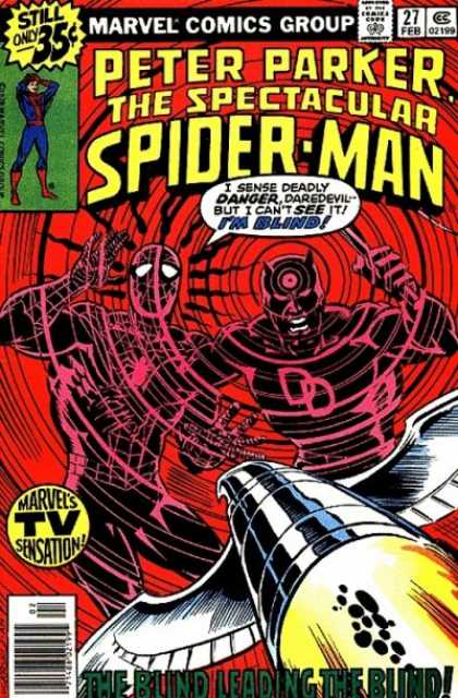 Spectacular Spider-Man (1976) 27 - Marvel - February - 35 Cents - Speech Bubble - Peter Parker - Dave Cockrum