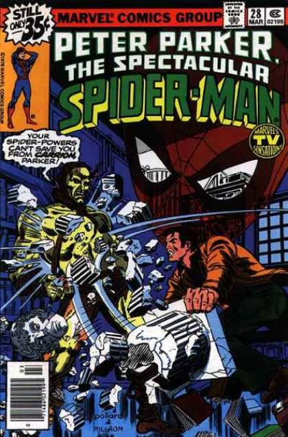 Spectacular Spider-Man (1976) 28 - Marvel - Peter Parker - Your Spider-powers Cant Save You - Carrion Parker - Attacked
