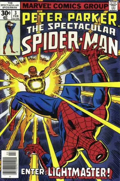 Spectacular Spider-Man (1976) 3 - Marvel Comics - Peter Parker - Spidey - Lightmaster - Spiderman - Sal Buscema