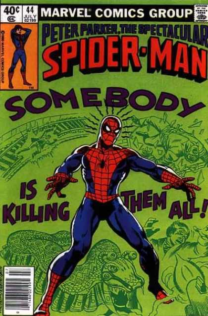 Spectacular Spider-Man (1976) 44 - Spider Man - Killing - Marvel Comics - July - Super Hero - Josef Rubinstein