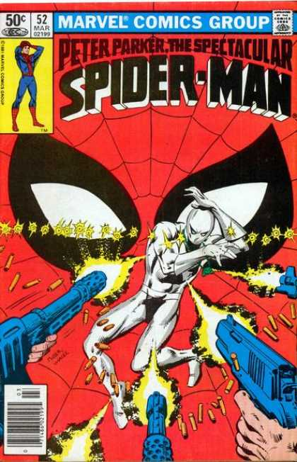 Spectacular Spider-Man (1976) 52 - Marvel - Peter Parker - Guns - Shell Casings - Mask - Bob Wiacek, Frank Miller