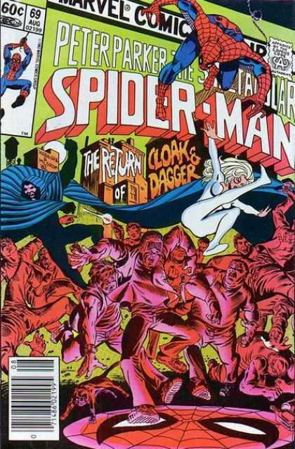 Spectacular Spider-Man (1976) 69 - Spidey With Old Allies - Spiderman Cloak Dagger - Cloak Dagger Return Peter - Spidey With Cloak - Dagger And Spiderman