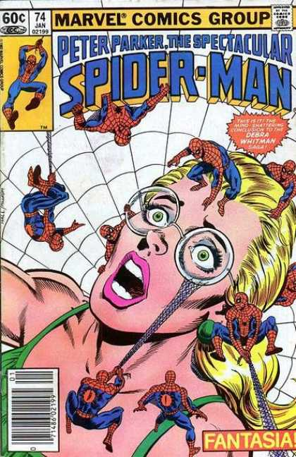 Spectacular Spider-Man (1976) 74 - Marvel Comics Group - Peter Park - Debra Whitman - Fantasia - Glasses
