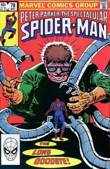 Spectacular Spider-Man (1976) 78 - Evil - Man - Robot Arms - Green Outfit - Hero