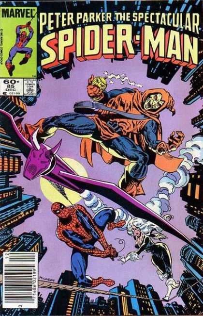 Spectacular Spider-Man (1976) 85 - Fly - Sky - Building - Fight - Force