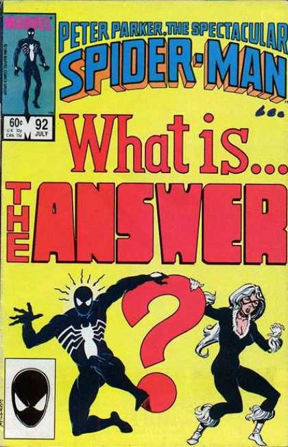 Spectacular Spider-Man (1976) 92 - Peter Parker - What Is The Answer - Costume - Superhero - Mutant
