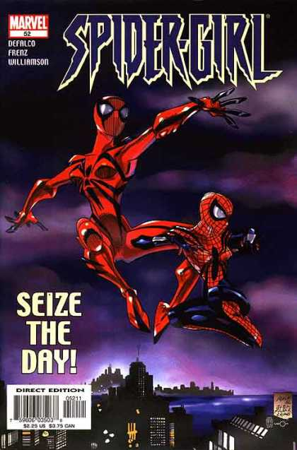 Spider-Girl 52 - Spider-girl - Marvel 52 - Delfalco Frenz Williamson - Seize The Day - City