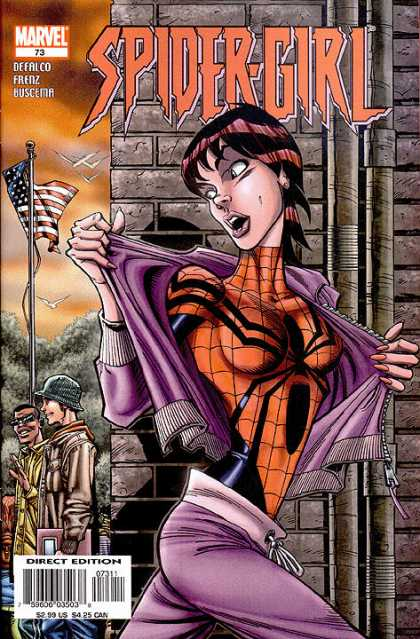 Spider-Girl 73 - Marvel - American Flag - Defalco - Frenz - Buscema