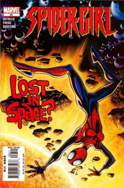 Spider-Girl 88 - Spider-girl - Marvel Comics 88 - Spider-girl Lost In Space - Defalco Frenz Buscema - Spider-girl Out In Space